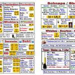 Irish Pub Ansbach - Getränkekarte Seite 2 & 3
